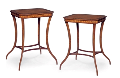 A PAIR OF EDWARDIAN SATINWOOD