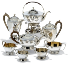 A NINE-PIECE SILVER TEA AND CO