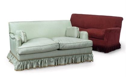 TWO TWO-SEAT SOFAS