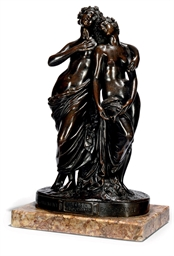 A FRENCH BRONZE GROUP OF TWO M