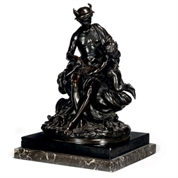 A FRENCH BRONZE MODEL OF MERCU