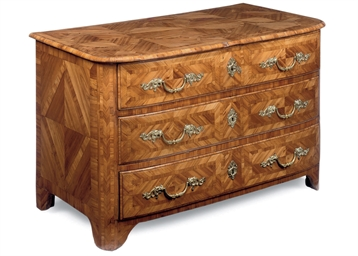 A GERMAN FRUITWOOD PARQUETRY C