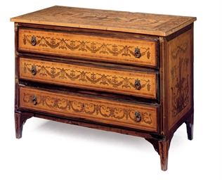 A NORTH ITALIAN FRUITWOOD MARQ