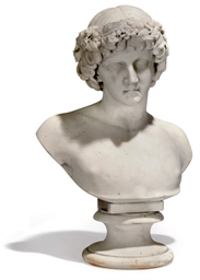 AN AMERICAN MARBLE BUST OF ANT