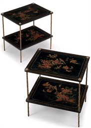 A PAIR OF ORMOLU, GILT AND POL