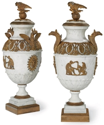 A PAIR OF GERMAN ORMOLU-MOUNTE