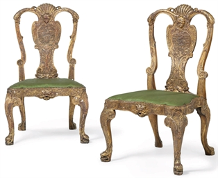 A PAIR OF GILT-GESSO AND COMPO