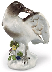 A MEISSEN PORCELAIN MODEL OF A