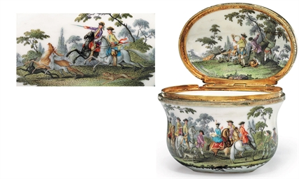 A GILT-METAL MOUNTED MEISSEN P