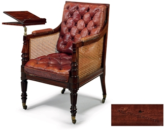 A REGENCY MAHOGANY READING LIB