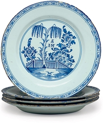 A SET OF FOUR ENGLISH DELFT MO
