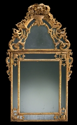 AN EARLY LOUIS XV GILTWOOD MIR