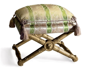 A REGENCY GILTWOOD STOOL