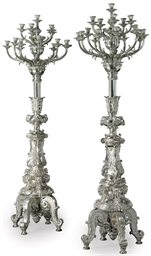 A PAIR OF FRENCH ELECTROPLATED
