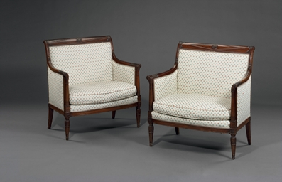 A PAIR OF DIRECTOIRE MAHOGANY