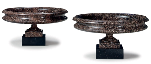 A PAIR OF SWEDISH PORPHYRY (OR
