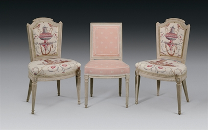 A PAIR OF LOUIS XVI WHITE-PAIN