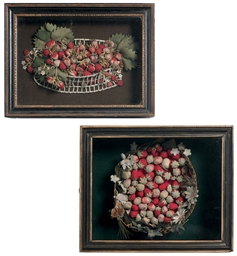 TWO ENGLISH STRAWBERRY BASKET