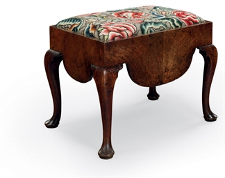 A GEORGE II WALNUT CLOSE-STOOL