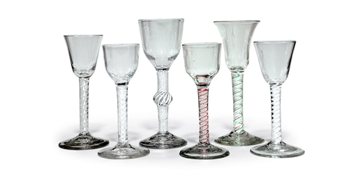 SIX GEORGIAN WINE GLASSES