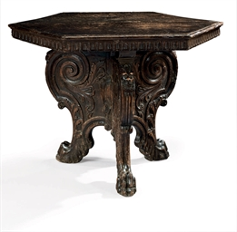 AN ITALIAN WALNUT CENTER TABLE