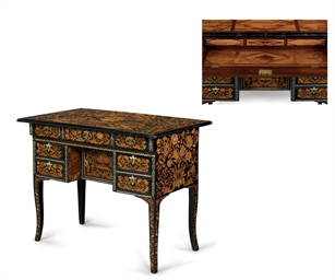 A LOUIS XIV MARQUETRY AND PEWT