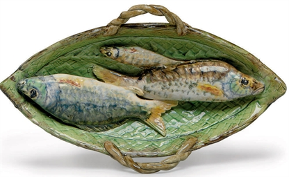 A FRENCH PALISSY STYLE FAIENCE