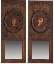 A PAIR OF REGENCE OAK BOISERIE