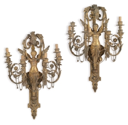 A PAIR OF CONTINENTAL GILT-COM