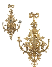 A PAIR OF FRENCH ORMOLU FIVE-B