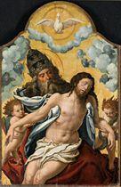 Cristo deposto con Dio Padre e angeli