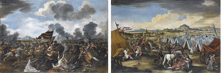 Accampamento militare; e Batta