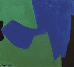 Compositie in blauw, groen, br