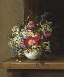 Still Life with Dog Roses, Lar
