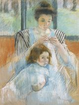 """Study for """"Young Mother Sewing"""""""