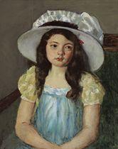 Françoise Wearing a Big White Hat
