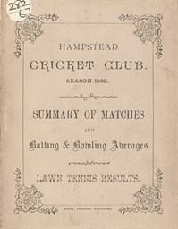 HAMPSTEAD CRICKET CLUB