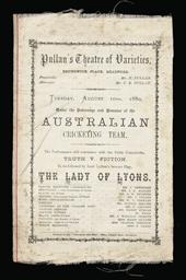AUSTRALIAN TOUR, 1880
