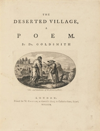 GOLDSMITH, Oliver. The Deserte