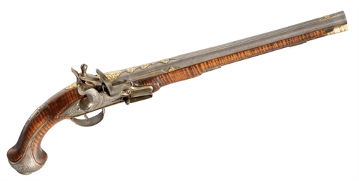 A CONTINENTAL FLINTLOCK HOLSTE