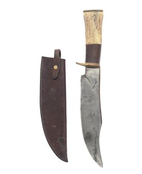 A MASSIVE ALASKAN BOWIE KNIFE BY IRVIN CAMPBELL (1919-2006), SEWARD