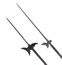 TWO GERMAN HALBERDS AND A CHIN