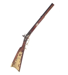 A PENNSYLVANIA FLINTLOCK KENTU