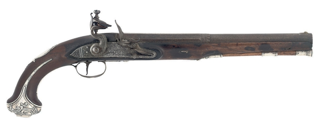 A SILVER-MOUNTED FLINTLOCK HOL