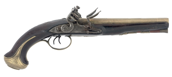 A D.B FLINTLOCK CARRIAGE PISTO