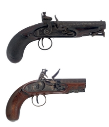 AN IRISH FLINTLOCK COAT PISTOL