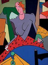 Donna alla poltrona verde