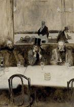 Paul Verlaine, Bibi la Purée et Stéphane Mallarmé au café Procope