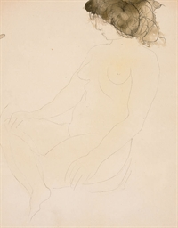 Femme nue assise