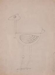 L'autruche, étude de décor pou